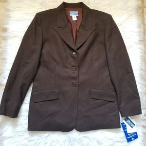 Pendleton Classic 100% Virgin Wool Brown Blazer